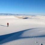[ホワイトサンズ国定公園]まるで雪が降り積もったかのような砂漠