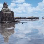 ウユニ塩湖360度の鏡ばり[動画あり]