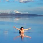 ウユニ塩湖でバタフライはできませんでした