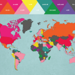 最も旅人が集まる国は?旅の予定を立てる時に役立ちそうな地図