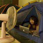 海外ノマド女子はテントで働いています