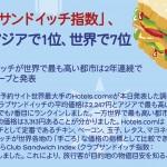 サンドイッチから旅先の物価がわかるという調査
