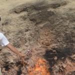 アゼルバイジャンのヤナルダグ(燃える丘)でBBQしてきた