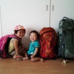 子連れ(0歳、3歳)で海外旅行するぼくらのバックパックの中身はこんな感じ