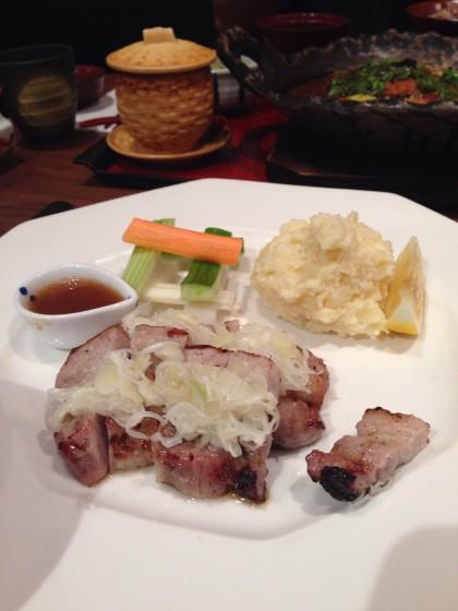 豚肉の塩糀焼き