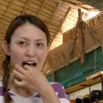 嫁がセミを食べた【嫁の観察日記 @世界一周】
