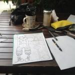 【旅する漫画家】世界一美しい湖のほとりでスローな執筆ですよ