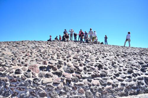 太陽のピラミッドの頂上