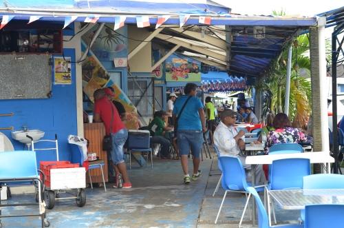 パナマシティの魚介類レストラン