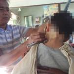 [子連れ海外旅行]ミャンマーの床屋で子供の散髪をしたらこうなった