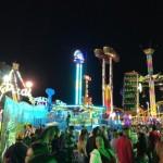 コスタリカの夜の大人の遊園地に行ってみた(Plaza de Toros)